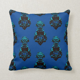 Vintage blue background throw pillow