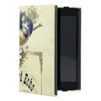 Vintage Blue Bird Birdcage Collage Case For iPad Mini