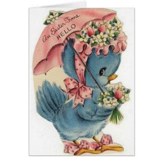 Vintage Blue Bird Easter Card