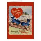 Vintage Blue Birds Seeds of Romance Valentine Card