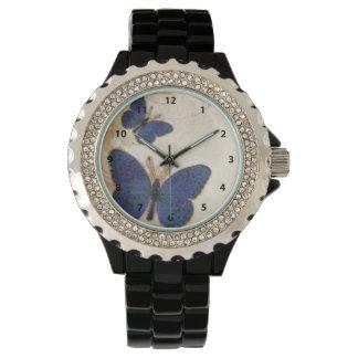 Vintage Blue Butterfly Watch