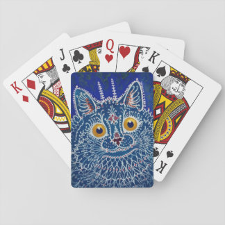 Vintage Blue Cat Playing Cards