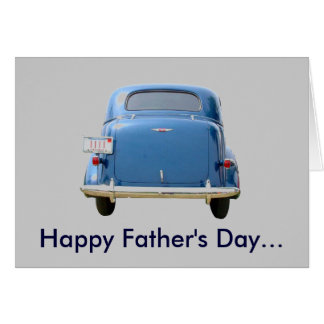 Vintage Blue Chevy Greeting Card