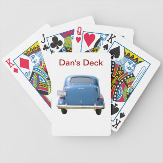 Vintage Blue Chevy Playing Cards ~ Personalize!