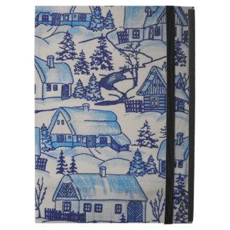 "Vintage Blue Christmas Holiday Village iPad Pro 12.9"" Case"