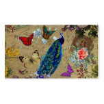 Vintage Blue Colourful Peacock Cute Butterfly Pack Of Standard Business Cards
