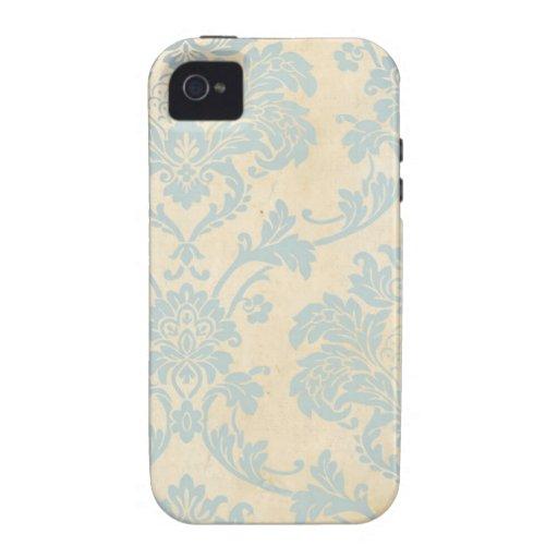 Vintage Blue Damask iPhone 4/4S Case