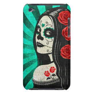 Vintage Blue Day of the Dead Girl Barely There iPod Case