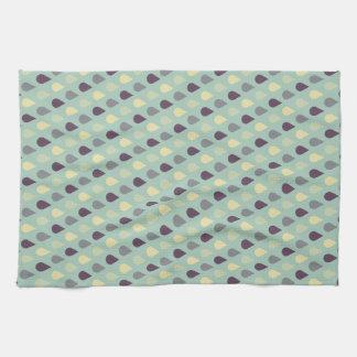 Vintage Blue Drops Kitchen Towel