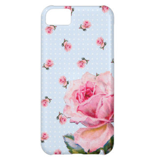 Vintage blue floral and dots case for iPhone 5C