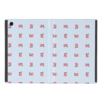 Vintage blue floral and dots cover for iPad mini