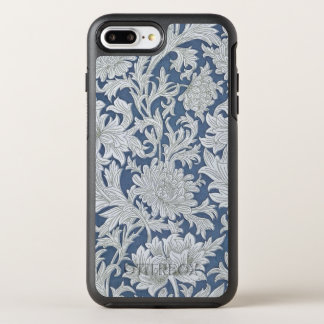 Vintage Blue Floral Pattern OtterBox Symmetry iPhone 7 Plus Case