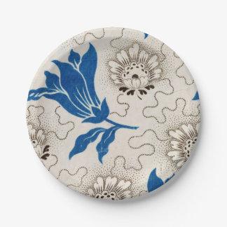 Vintage Blue Floral Pattern  | Paper Plates