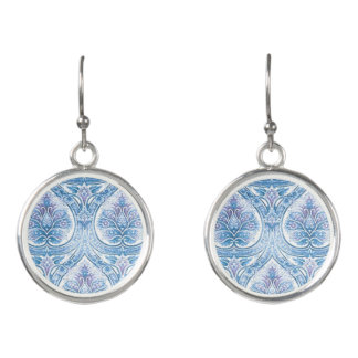 Vintage Blue for You Pendant Earrings