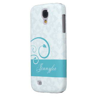 Vintage blue galaxy s4 cover