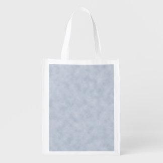 Vintage Blue Gray Parchment Look Texture Reusable Grocery Bag