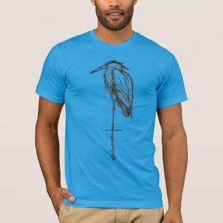 Vintage Blue Heron  T-shirts -