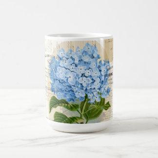 Vintage Blue Hydrangea French Ephemera Mug