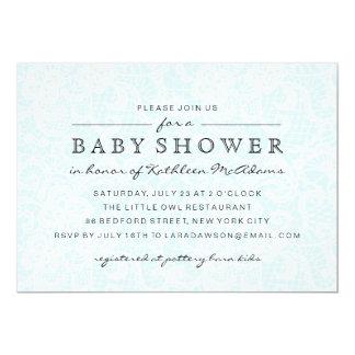Vintage Blue Lace Baby Shower Invitation