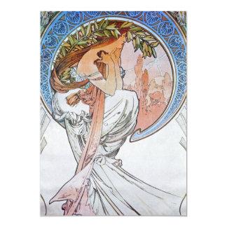 "Vintage Blue Moon Goddess 5"" X 7"" Invitation Card"
