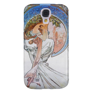 Vintage Blue Moon Goddess Galaxy S4 Cases