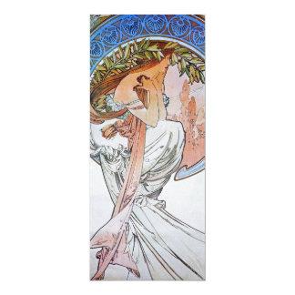 "Vintage Blue Moon Goddess 4"" X 9.25"" Invitation Card"