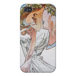 Vintage Blue Moon Goddess iPhone 4 Cover