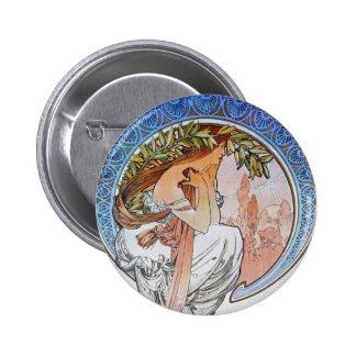 Vintage Blue Moon Goddess Pinback Button