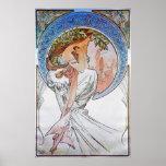 Vintage Blue Moon Goddess Poster