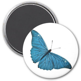 Vintage Blue Morpho Butterfly Customized Template 7.5 Cm Round Magnet