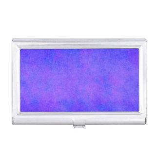 Vintage Blue Orchid Purple Parchment Template Business Card Holder