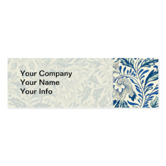 Vintage Blue Oriental Decor FloralPattern Business Card