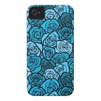 Vintage blue roses BlackBerry Bold Case