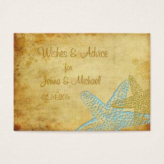 VINTAGE BLUE STARFISH WISHES & ADVICE