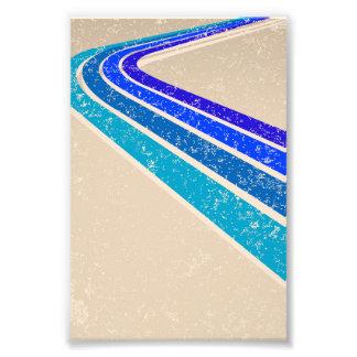 Vintage Blue Track Pattern Photo
