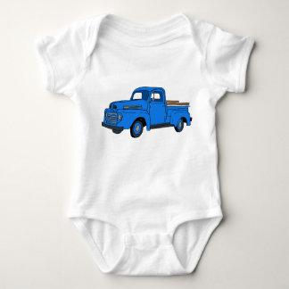 Vintage Blue Truck Baby Bodysuit