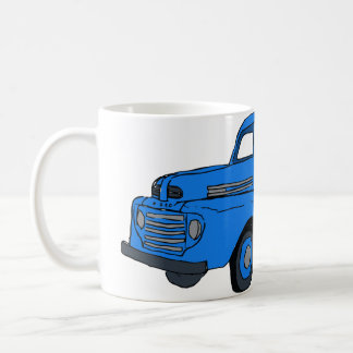 Vintage Blue Truck Coffee Cup / Mug