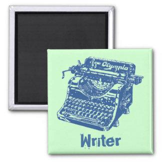 Vintage Blue Typewriter Magnet