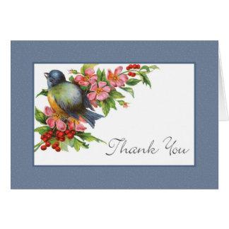 Vintage Bluebird Thank You Card