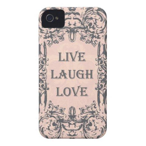 Vintage Blush LIVE LAUGH LOVE blackberry case