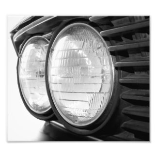 vintage BMW headlights Photo Print