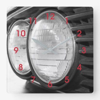 vintage BMW headlights Square Wall Clock