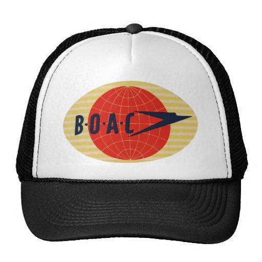 Vintage BOAC Airline Logo Mesh Hats