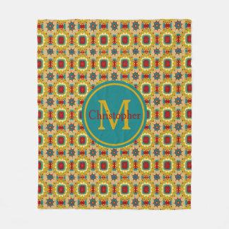 Vintage Board Game Inspired Monogram Fleece Blanket