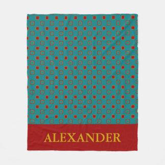 Vintage Board Game Inspired Tiles Fleece Blanket