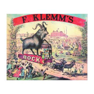 Vintage Bock Beer Ad 1890 Canvas Print