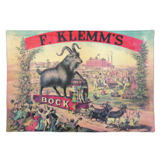 Vintage Bock Beer Ad 1890 Placemats