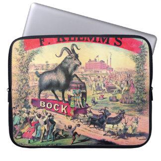 Vintage Bock Beer Ad 1890 Computer Sleeve