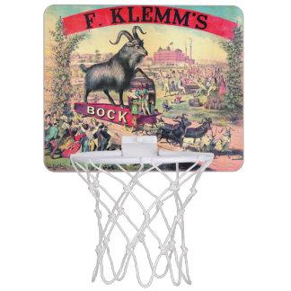 Vintage Bock Beer Ad 1890 Mini Basketball Backboards