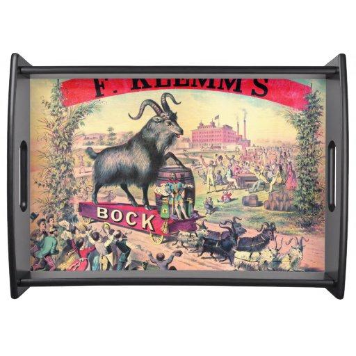 Vintage Bock Beer Ad 1890 Serving Tray